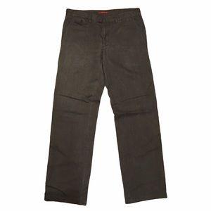 Prada Mens Gray Baggy Straight Pants